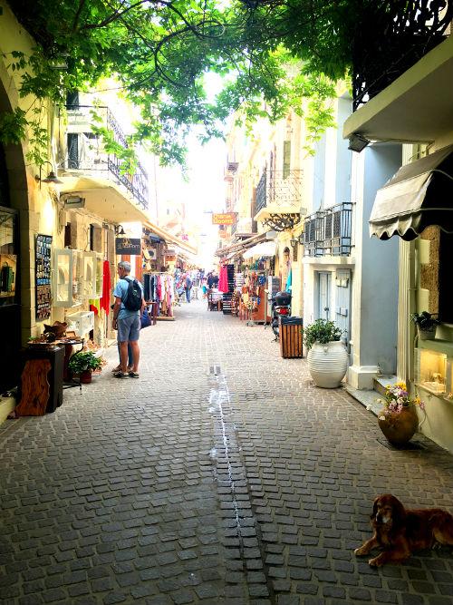 shopping in chania