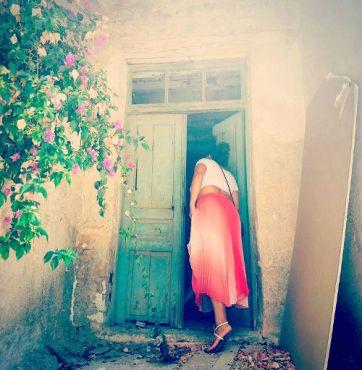through open doors