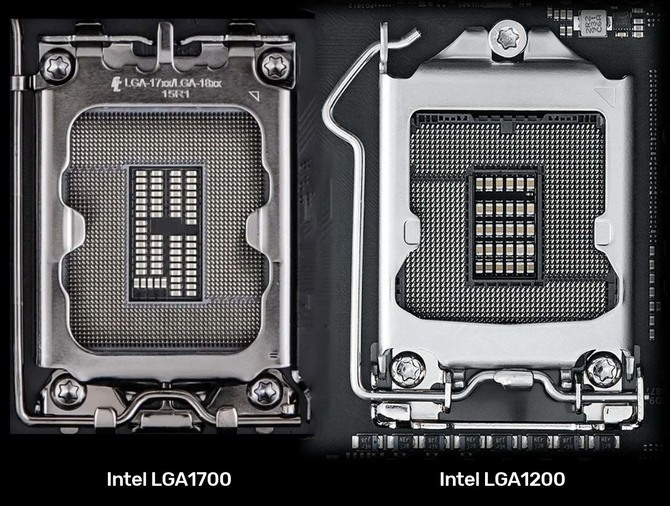 Intel LGA1700 - a new photo of the socket for Intel Alder Lake and Meteor Lake processors has leaked [1]