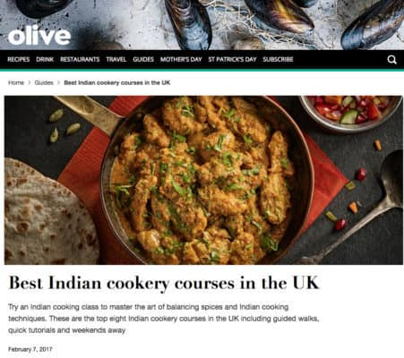 Olive magazine Pure Punjabi best Indian cookery courses in the UK