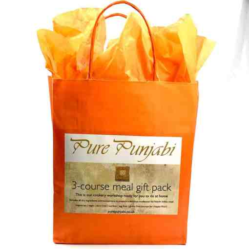 Pure Punjabi 3-course meal kit gift pack.