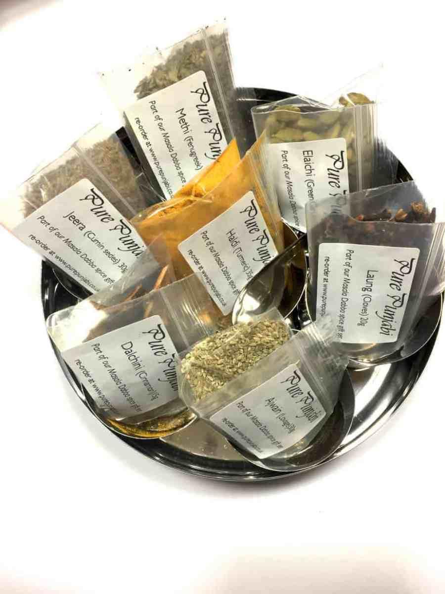 Pure Punjabi Masala Dabba spice tin for cookery workshop alumni