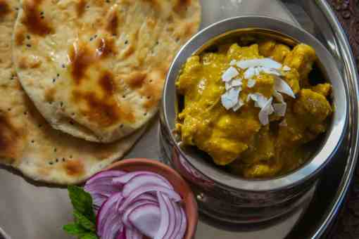 Pure Punjabi Mango chicken & naan meal kit sachets