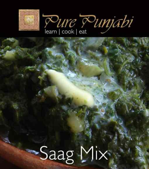 Pure Punjabi Saag Mix, Indian meal kit, purepunjabi.co.uk