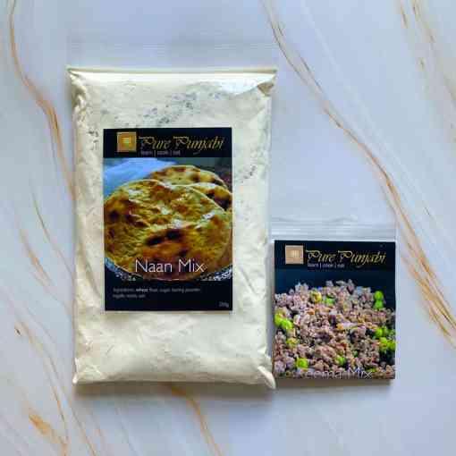 Keema naan dinner kit, purepunjabi.co.uk, dairy-free dinner kit, Indian dinner kit