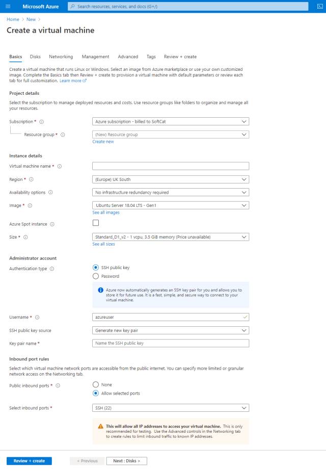 Create a virtual machine on Azure - Deploy ShinyApps with Azure and Docker
