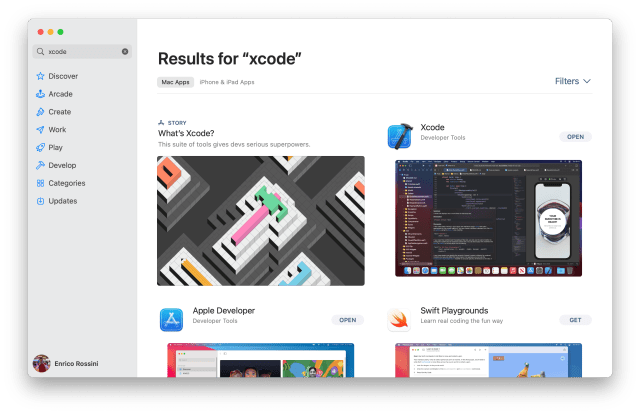 Xcode on Apple Store - Getting started with Swift development