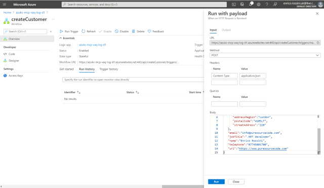 Testing our workflow createCustomer