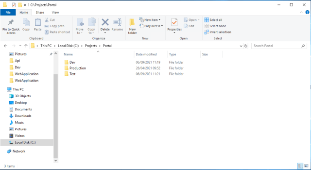 Folder structure for environment - Copy folders excluding files in PowerShell