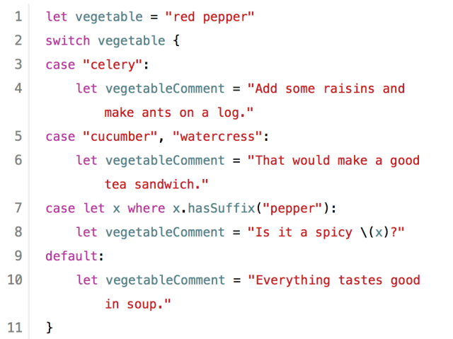 Swift syntax is easy to read because of logical english function names - This is Swift!