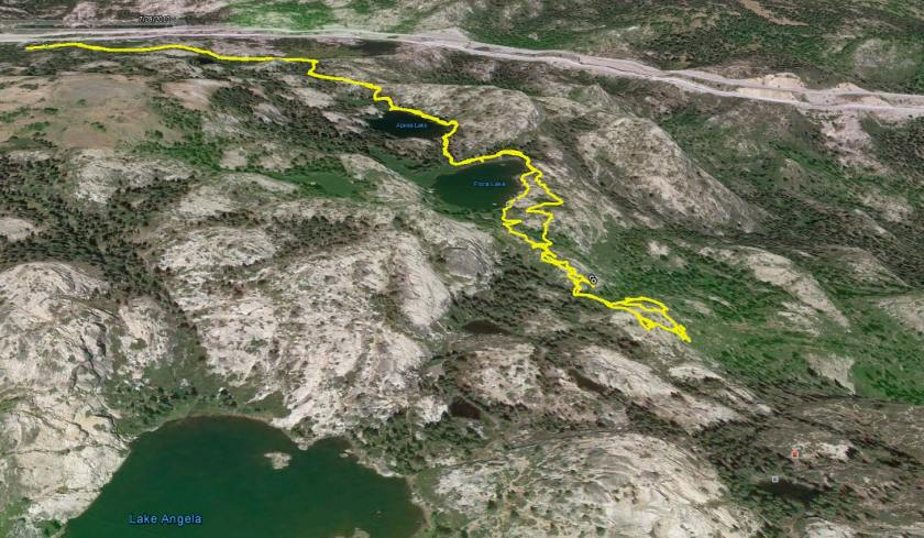 PCT google earth map