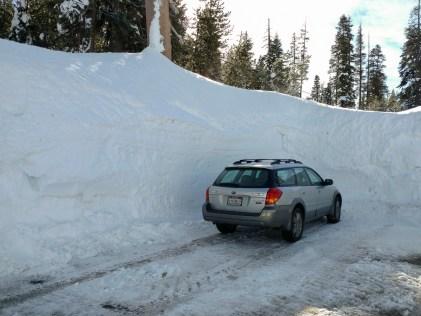 Snow in the Sierra Nevada