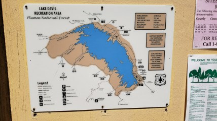 Map of Lake Davis