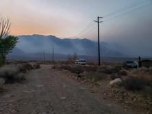 Smoke coming in at Horton Creek CG
