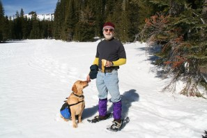 Me and Ben snow shoe