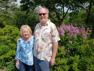 Caroline and Martin in Lilac park