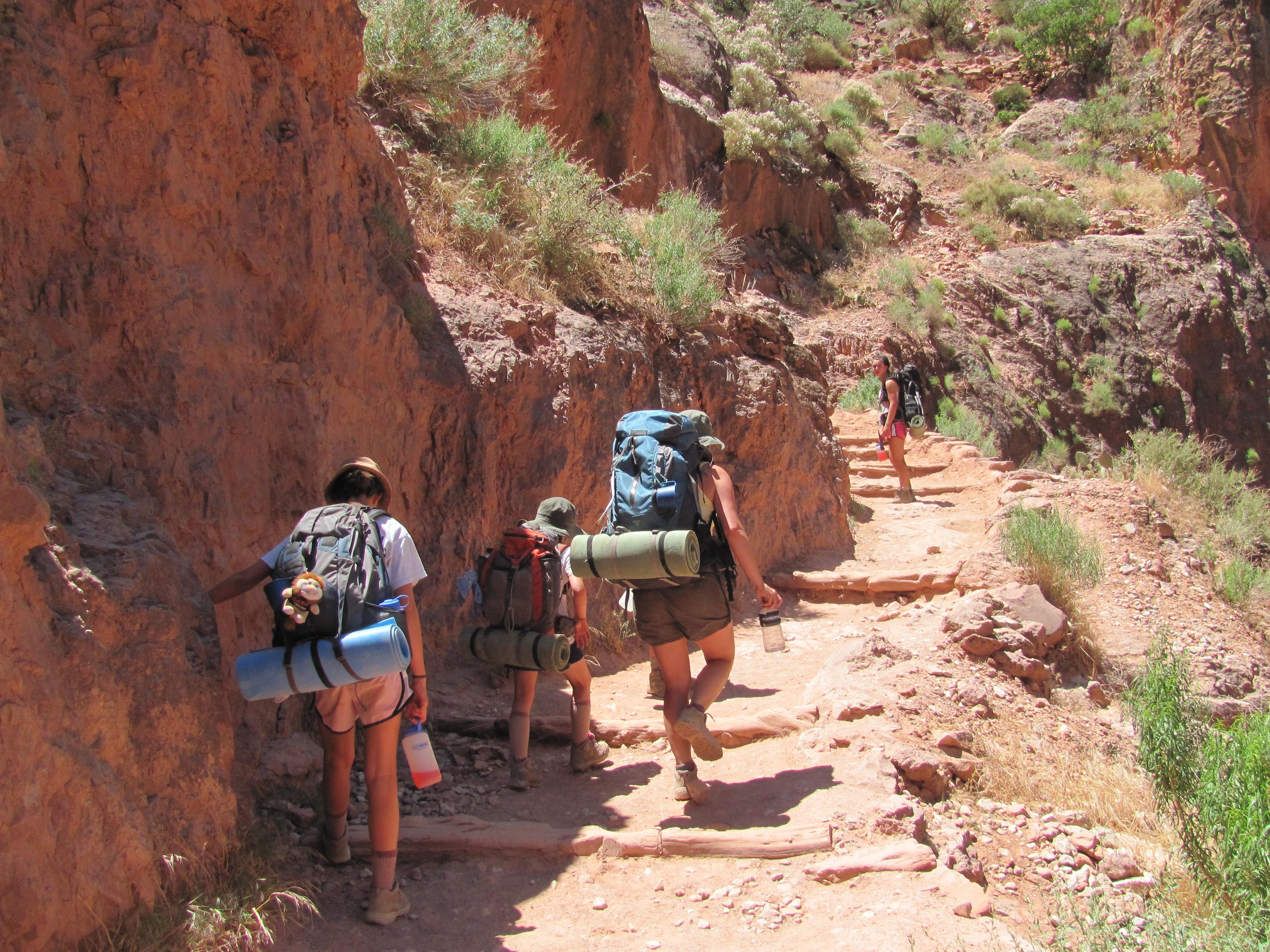 Hiking the Bright Angel Trail