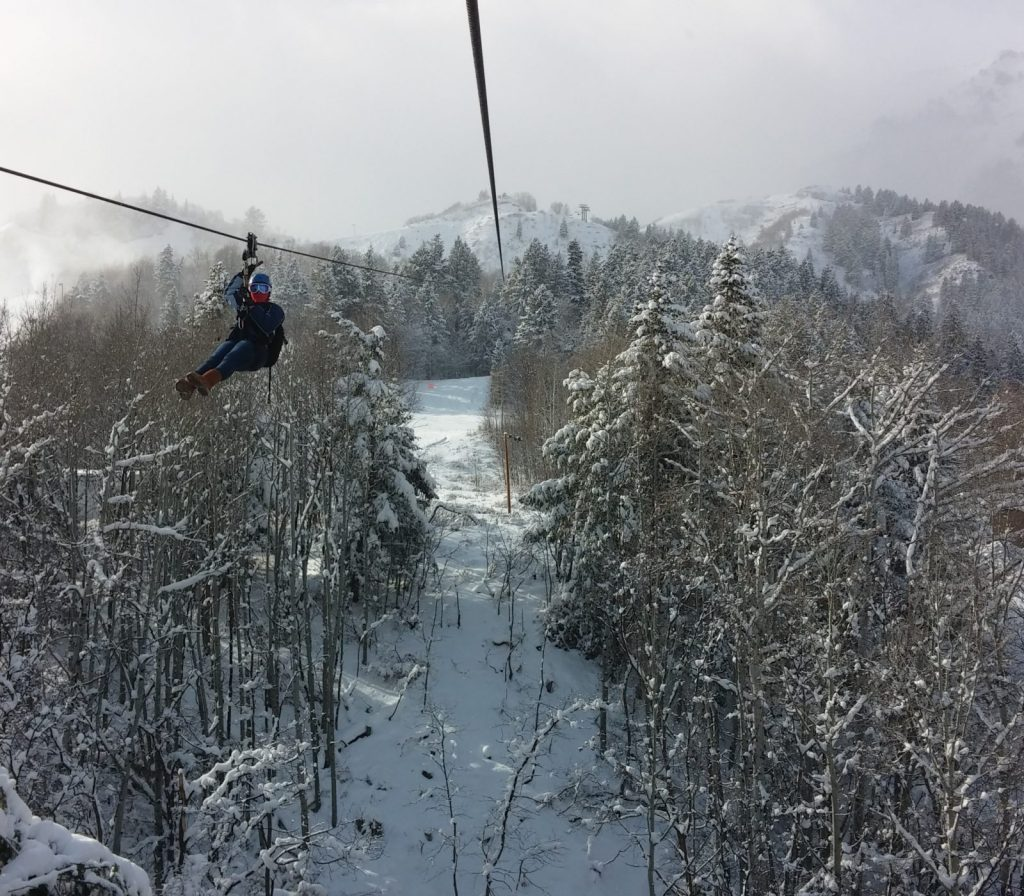 Zipline Sundance in Winter