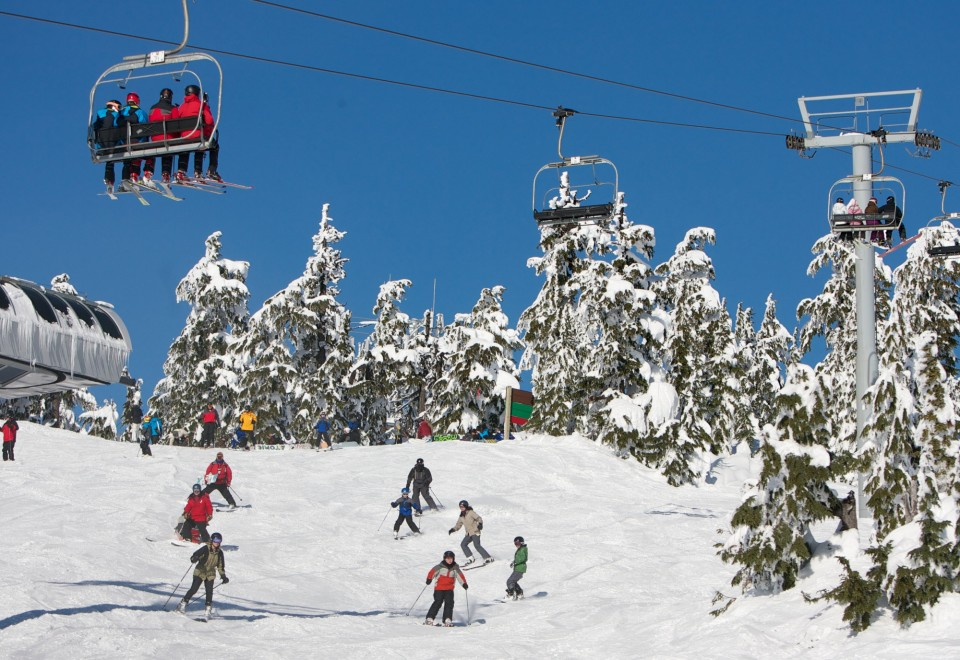 Skiing on Mount Hood in Oregon