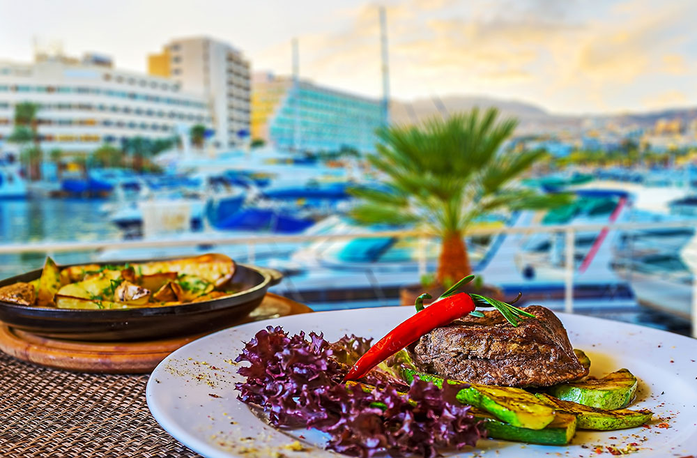 The restaurants in Eilat's offer amazing food
