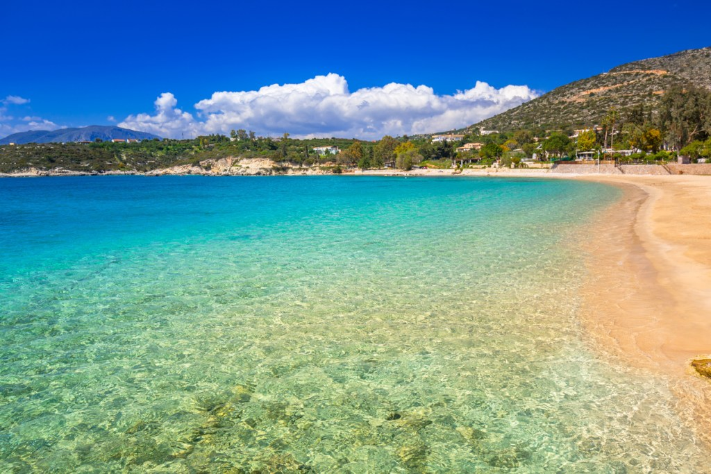 Marathi bay with beautiful beach on Crete, Greece