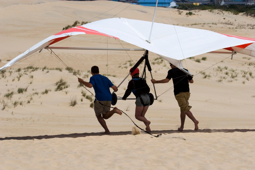 Learning to Hang-Glide on Jockey's Ridge State Park in the Outer Banks