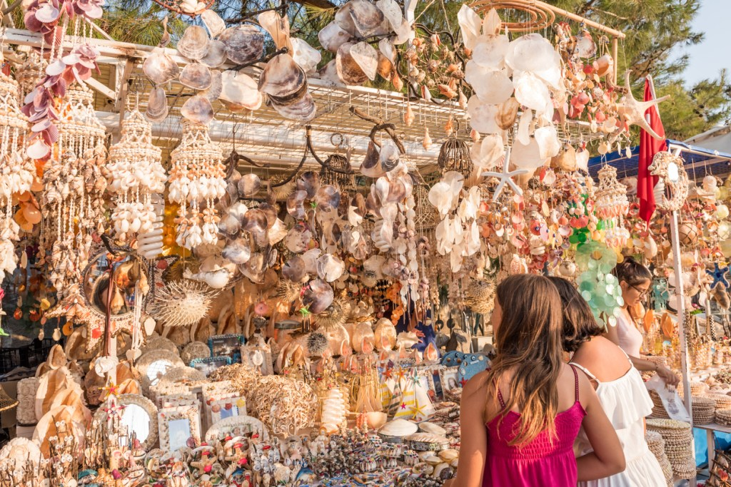 People shopping in Bodrum,Turkey