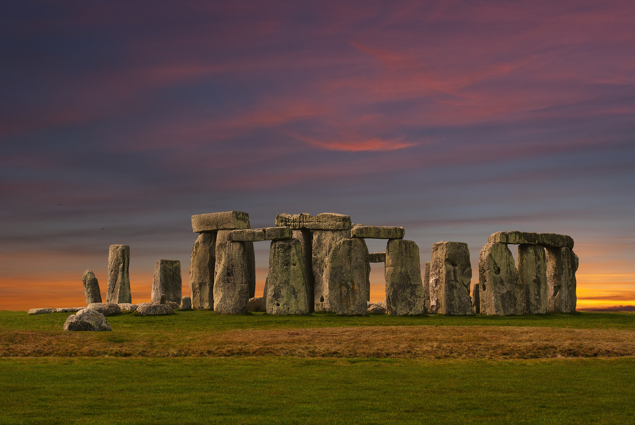Stonehenge at the sunset