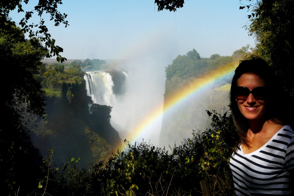 Victoria Falls in the background, Zimbabwe