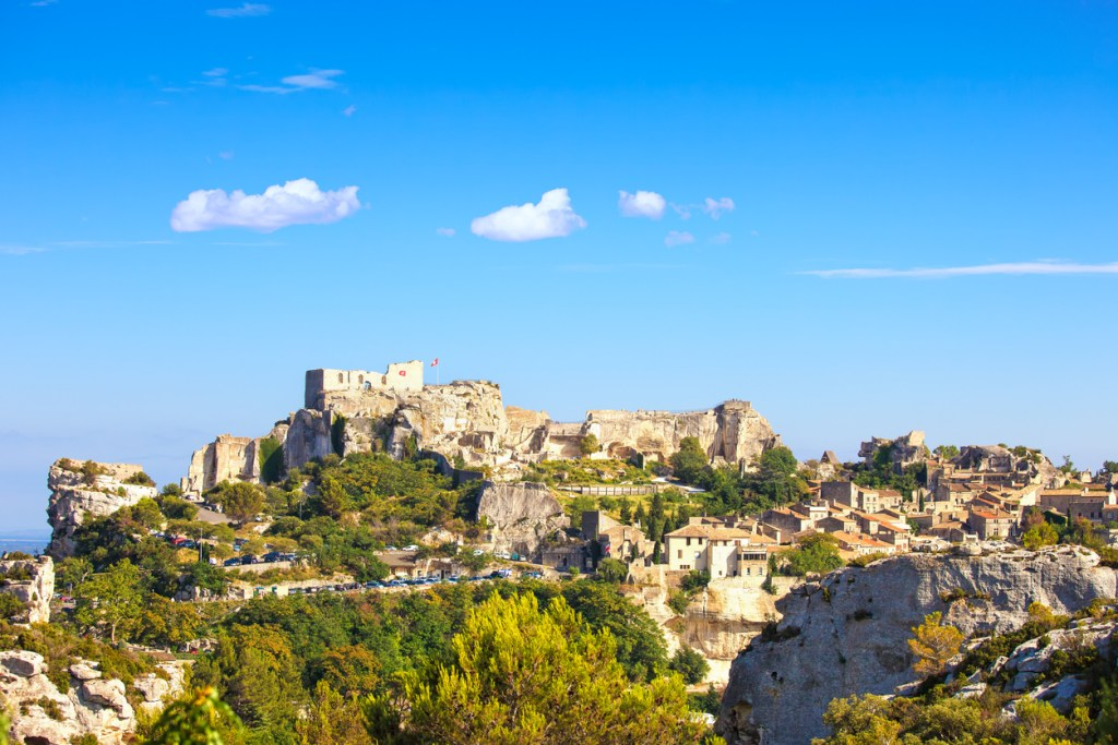 Les Baux de Provence village and castle. France