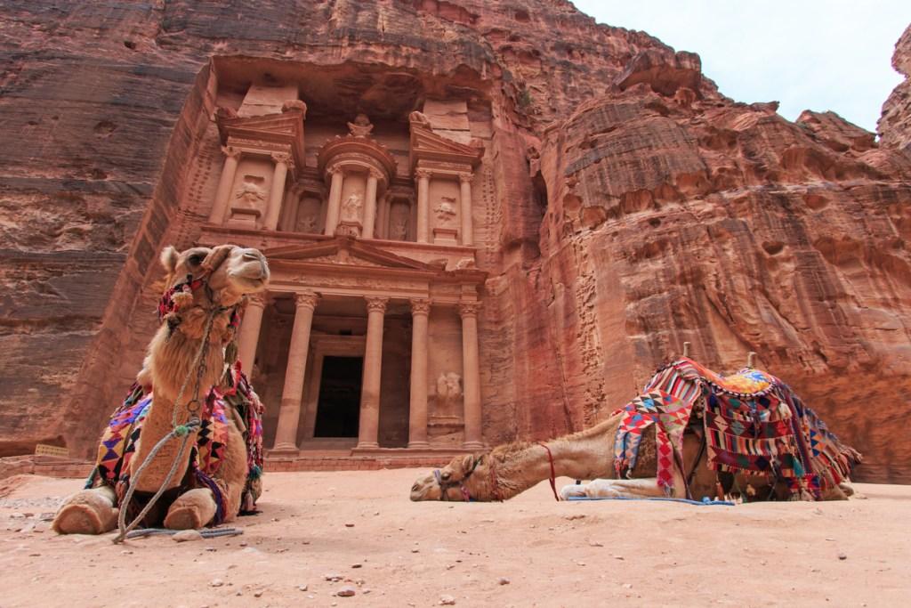 The Treasury,Al Khazneh, in Petra, Jordan