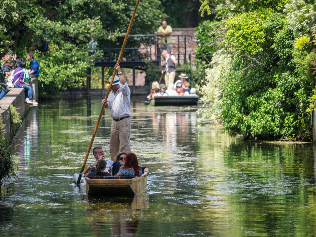Punting on the River Stour in Canterbury