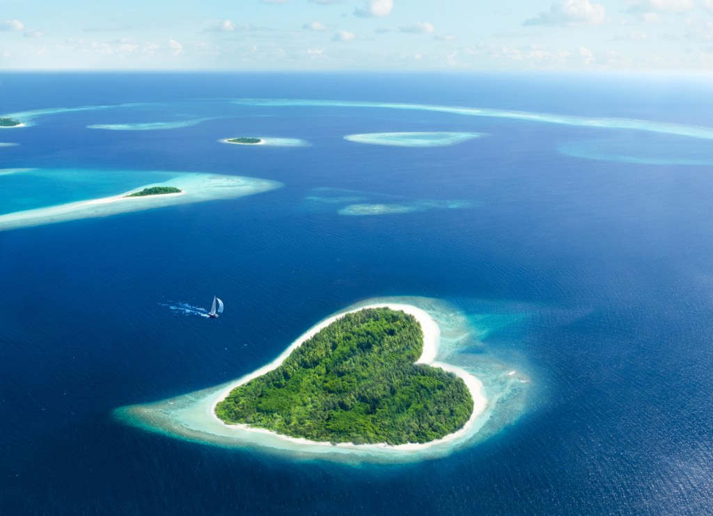 Island Hopping in the Maldives - This is Heart Island!