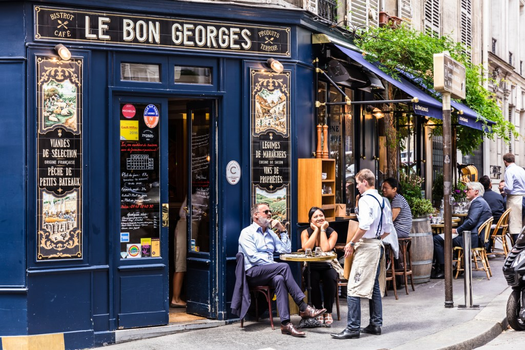 The Cafe Le Bon Georges. Paris, France