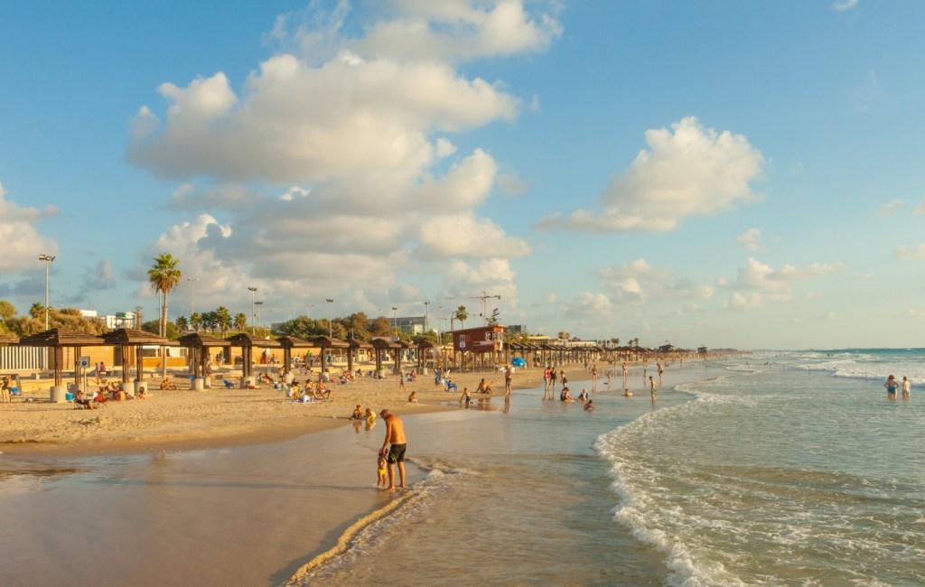 Mediterranean beach of Haifa, Israel