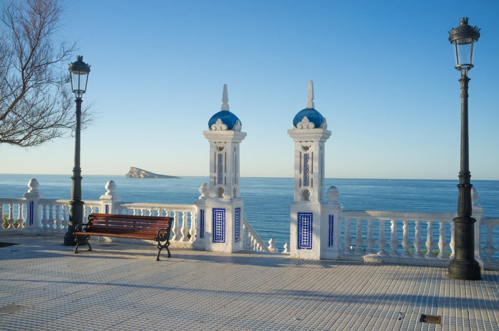 Benidorm old town and its scenic Mediterranean views