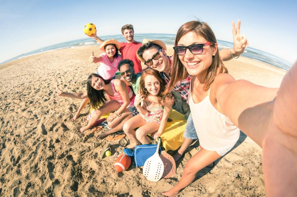 Fun on the beach in California