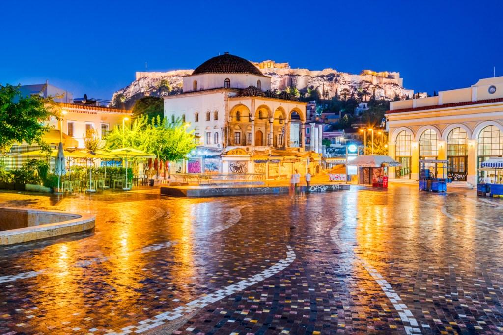 Monastiraki Square and Acropolis