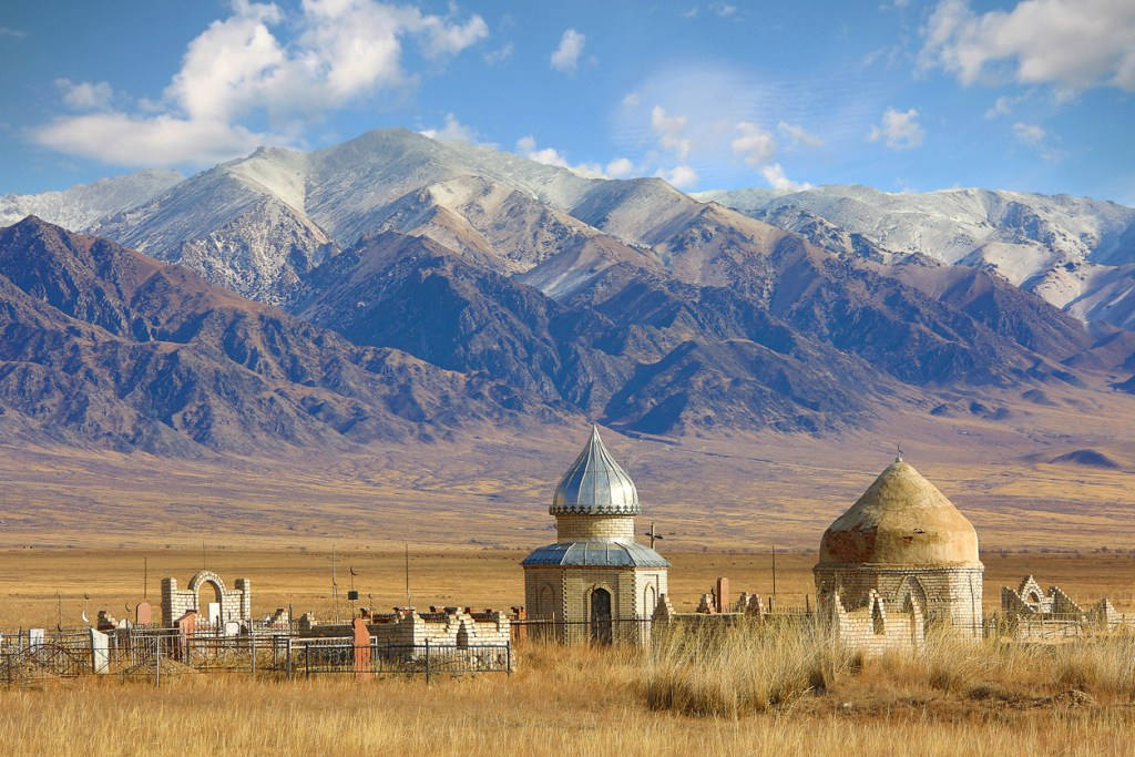 Old central asian muslim cemetery in Kazakhstan