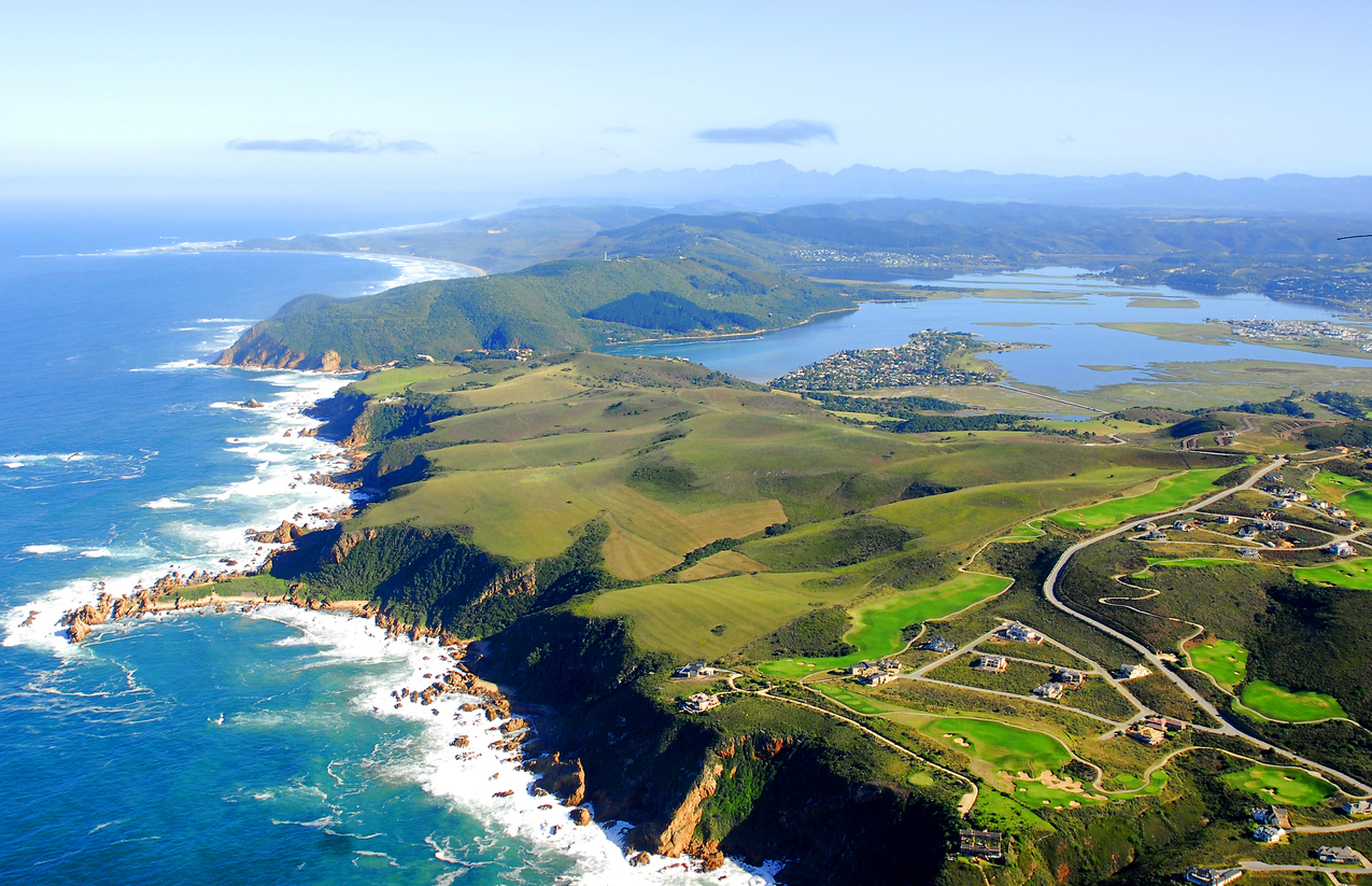 Aerial photo of Knysna, Garden Route South Africa