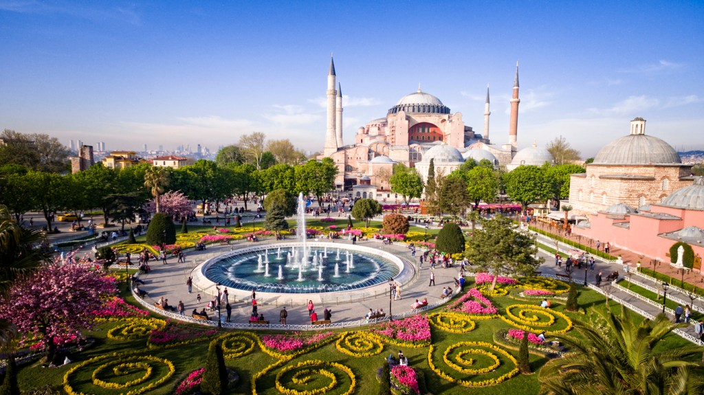 View of Hagia Sophia in Istanbul, Turkey