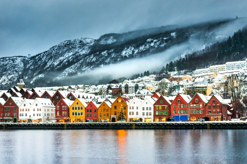 Bergen, Norway in Winter