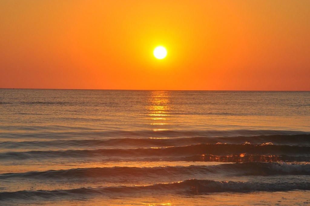 The sunsets over the Gulf of Mexico off of Siesta Key's Crescent Beach