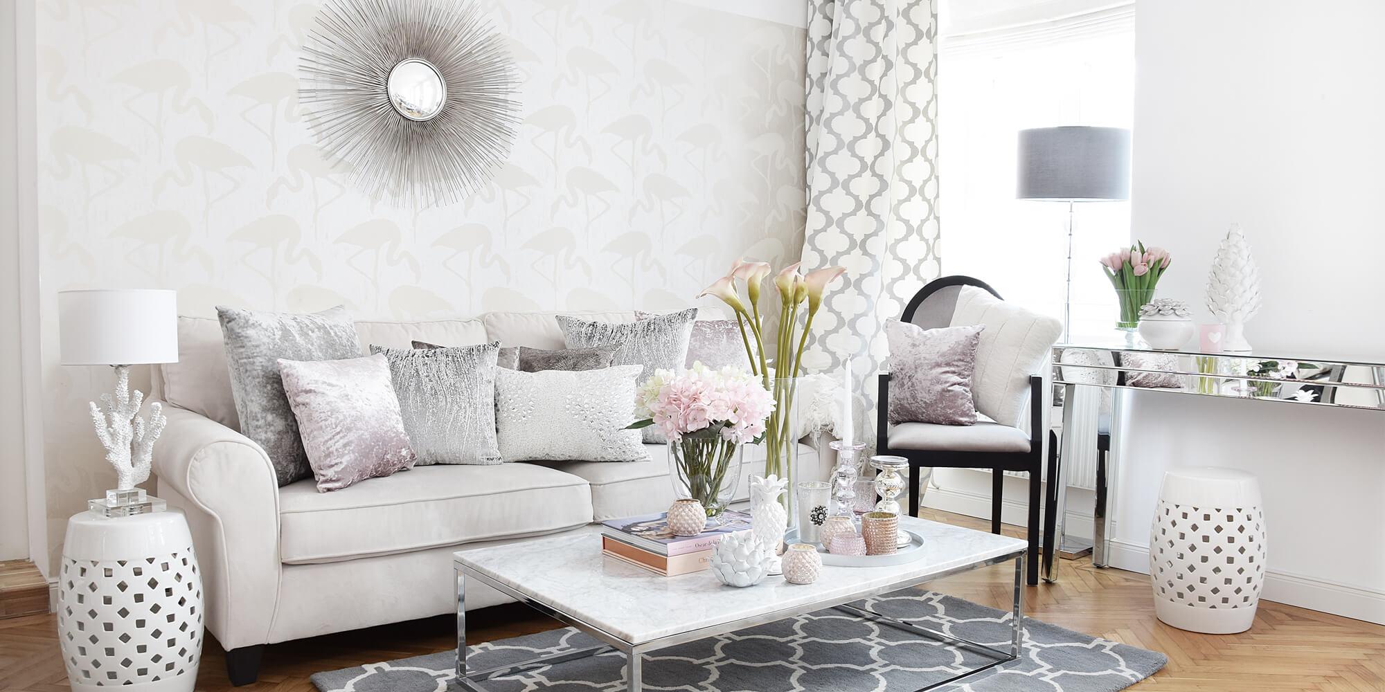 Wohnzimmer Weis Rosa  homeautodesigncom