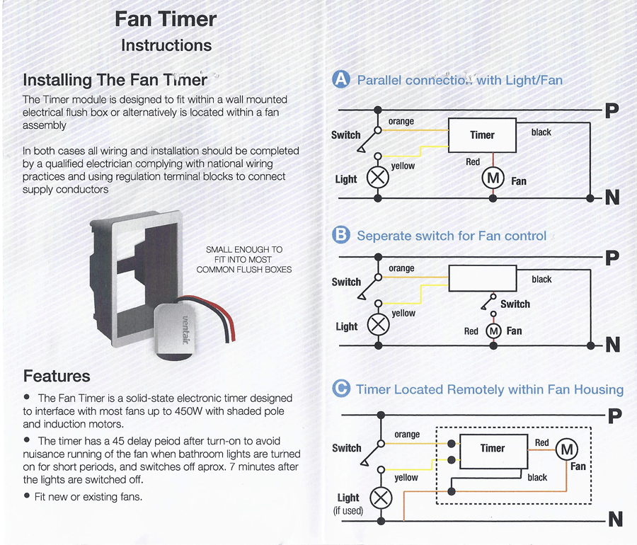 ceiling fan wiring diagram switch network wire 7 minute delayed timer for axial exhaust fans