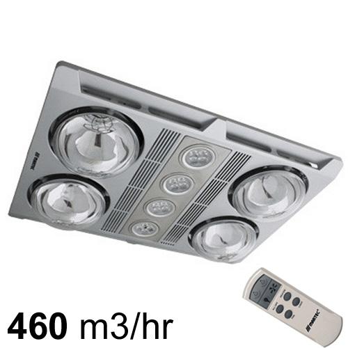 martec profile plus 4 exhaust fan heat light remote silver