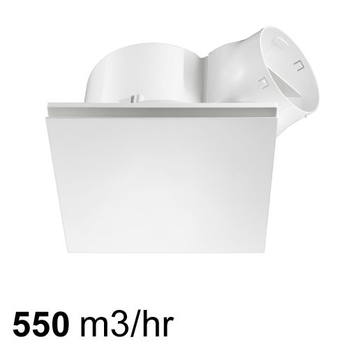 airbus 300 low profile exhaust fan white square