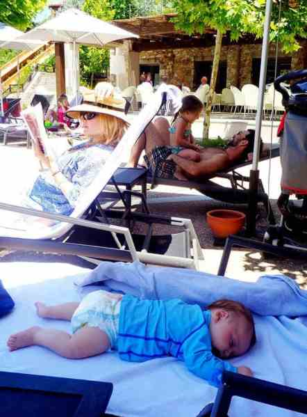 Family Laying by the pool in Greece - by Eleni N Gage