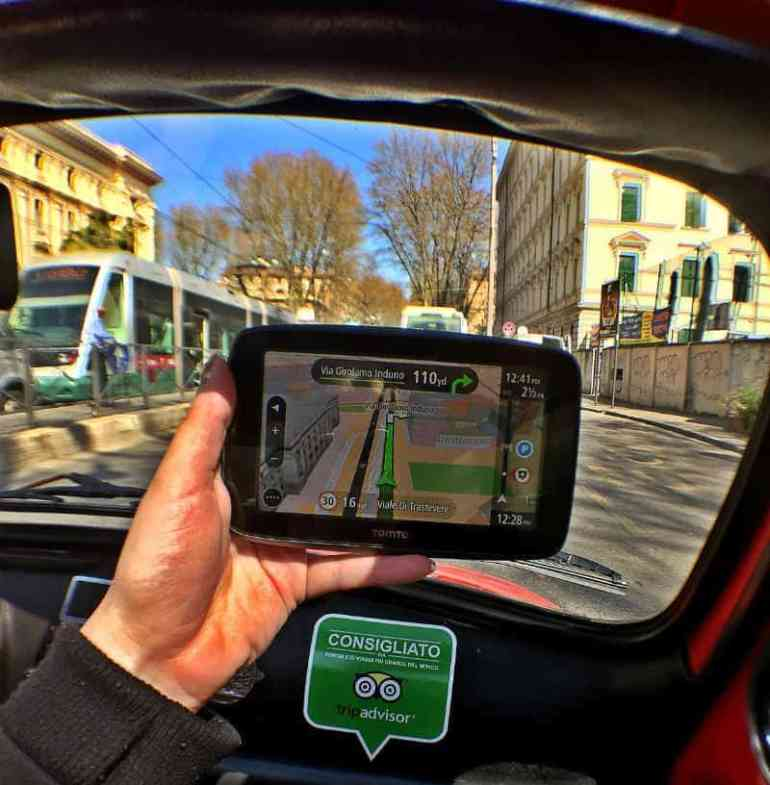 tomtom fiat 500 rome italy eileen cotter wright