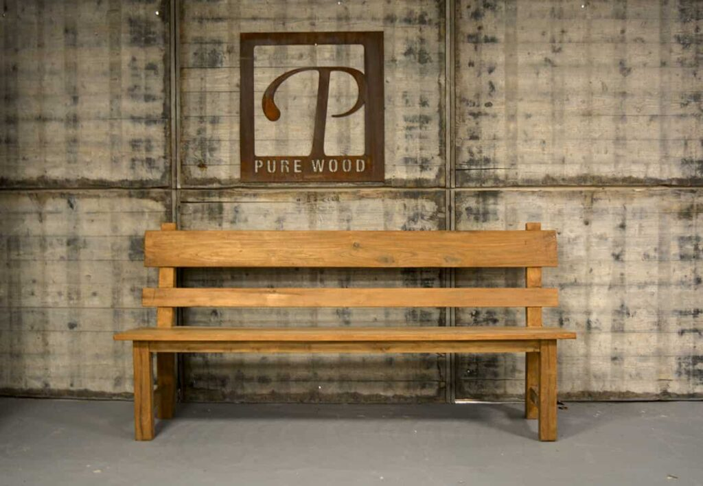 Eetkamerbank teak hout  Pure Wood Interieur